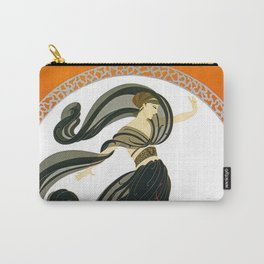 "Art Deco Design ""Flames of Love"" by Erté Carry-All Pouch"