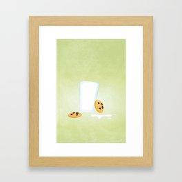 Cookies and Milk Food Poster Framed Art Print