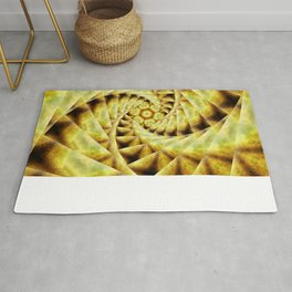 Smoky spiral stairs to floral centre Rug