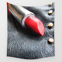 Lipstick On Leather Wall Tapestry