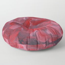 Red Petals Floor Pillow