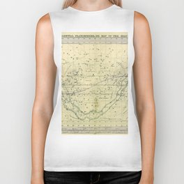 A Celestial Planisphere or Map of The Heavens Biker Tank