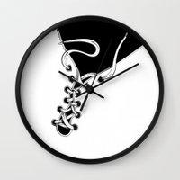 shoe Wall Clocks featuring SHOE by Gal Ashkenazi