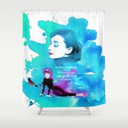 Audrey Hepburn Shower Curtain