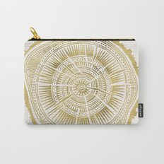 Paper Birch – Gold Tree Rings Carry-All Pouch