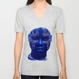 Face with Dots - Ethiopia Unisex V-Neck