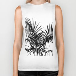 Little palm tree in black Biker Tank