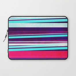 teal & red strips  Laptop Sleeve