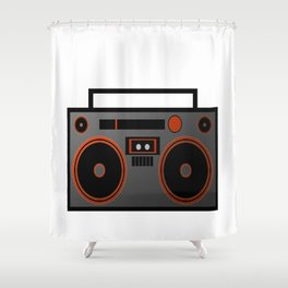 Boombox Shower Curtain