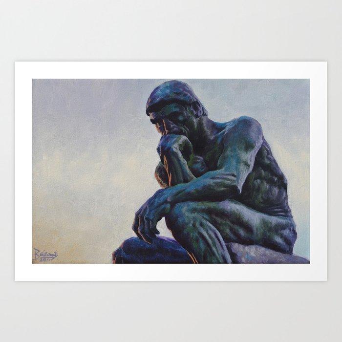 El Pensador De Rodin Art Print By Basant