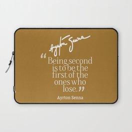 Ayrton Senna Quote Laptop Sleeve