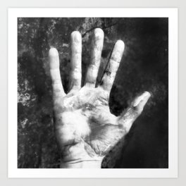 Self Portrait (Right Hand) Art Print