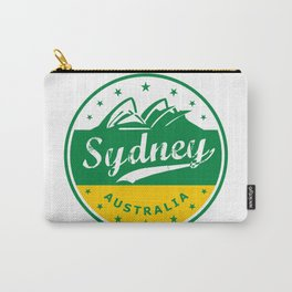 Sydney City, Australia, circle, green yellow Carry-All Pouch