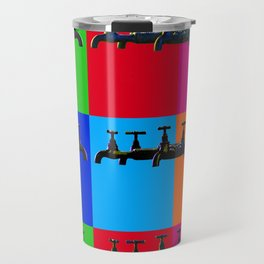 Industrial inspiration for a colorful tap design Travel Mug