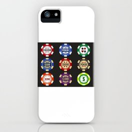 Casino Poker Chips - National Nevada Day iPhone Case