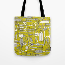 fiendish incisions chartreuse Tote Bag