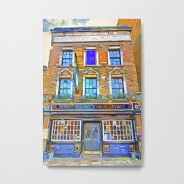 The Prospect Of Whitby Pub Pop Art Metal Print