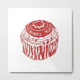 Tea Cake pen drawing (red) Metal Print