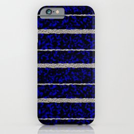 Silver Stripes with a Blue Plasma Background iPhone Case