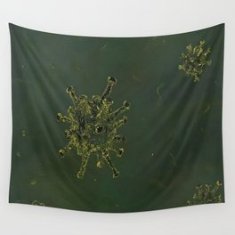 Virus, biology, oil painting by Luna Smith, LuArt Gallery, nature Wall Tapestry
