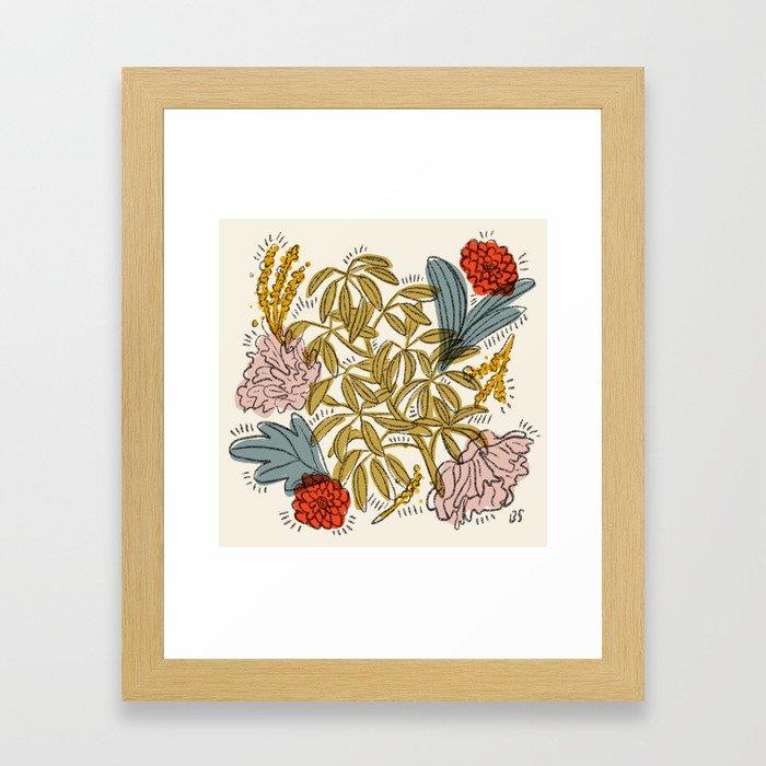Dancing Florals Framed Art Print