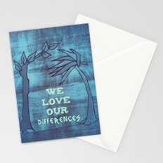 We Love Our Differences Stationery Cards