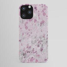 Pink Hide Print Metallic iPhone Case
