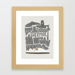 Liverpool Cityscape Framed Art Print