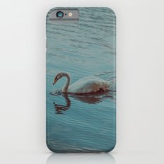 Swan lake in blue iPhone 6s Slim Case