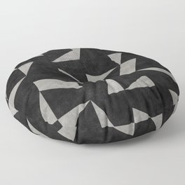 Mid-Century Modern Pattern No.12 - Black and Gray Concrete Floor Pillow