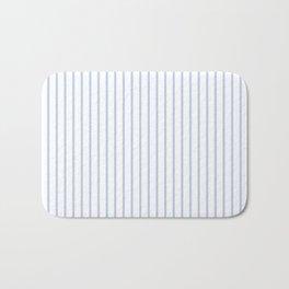 Alice Blue Pinstripe on White Bath Mat