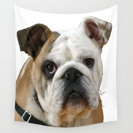 American Bulldog Background Removed Wall Tapestry