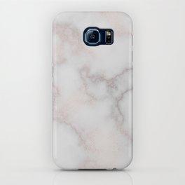 Elegant blush tones pink rose gold white marble iPhone Case