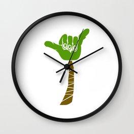 Hang Loose Palm Tree Wall Clock