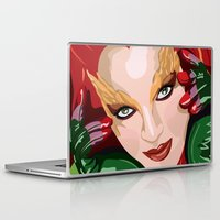 poison ivy Laptop & iPad Skins featuring Poison Ivy  by Jordi Hayman Design