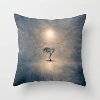 the shining Throw Pillows featuring shining by Viviana Gonzalez