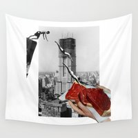 metropolis Wall Tapestries featuring Metropolis by Lerson