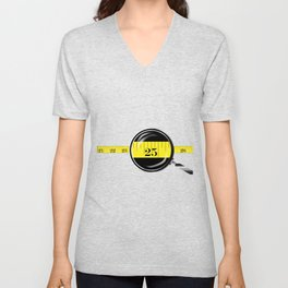 Tape Measure Border Unisex V-Neck