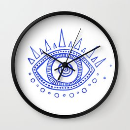 Evil Eye III Wall Clock