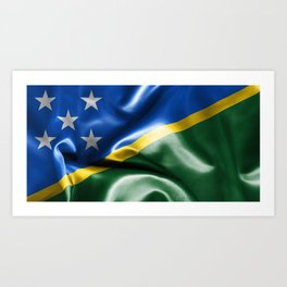 Solomon Islands Flag Art Print