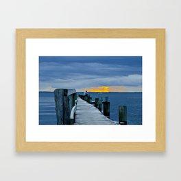 Scandic sunset Framed Art Print