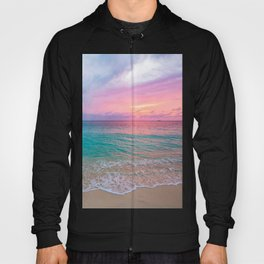 Aerial Photography Beautiful: Turquoise Sunset Relaxing, Peaceful, Coastal Seashore Hoody