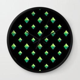 Emerald Diamonds Wall Clock