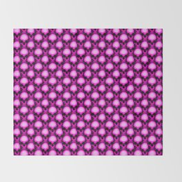 Too Many Pink Skulls Throw Blanket