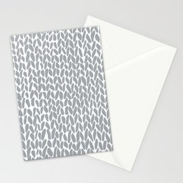 Hand Knit Zoom Grey Stationery Cards