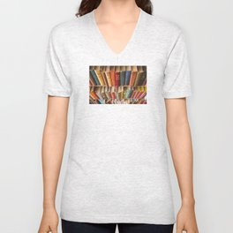 The Colorful Library Unisex V-Neck