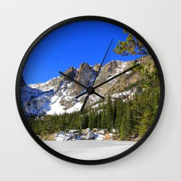 USA Rocky Mountain Colorado Nature Spruce mountain park Snow Mountains Parks Wall Clock