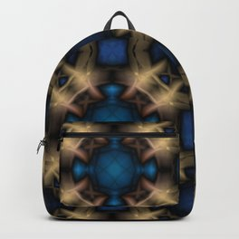 Abstract pattern. Black blue yellow background. Backpack