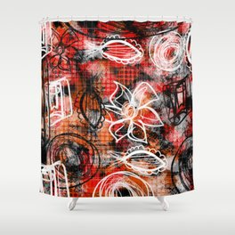 Going rouge Shower Curtain