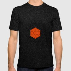 HEXAGON 2X-LARGE Mens Fitted Tee Tri-Black